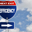 Efficiency road sign — Stock Photo