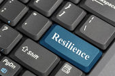 Resilience on keyboard — Stock Photo