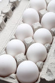 Eggs on package — Stock Photo