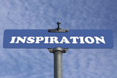 Inspiration road sign — Stock Photo
