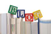 Log word on book — Stock Photo