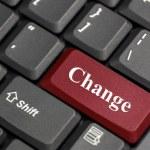 Change on keyboard — Stock Photo #26820207