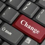 Change on keyboard — Stock Photo