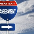 Assessment road sign — Stock Photo