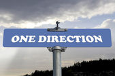 One direction road sign — Stock Photo