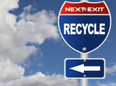 Recycle road sign — Stock Photo