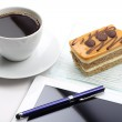 Business in coffee shop — Stock Photo
