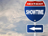 Showtime road sign — Stock Photo