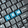 CRM on keyboard — Stock Photo
