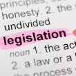 Legislation highlighted in dictionary — Stock Photo