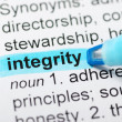 Integrity highlighted in dictionary — Stock Photo