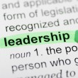 Leadership highlighted in dictionary — Stock Photo #28317585