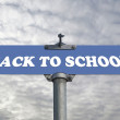 Back to school road sign  — Stock Photo