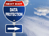 Data protection road sign — Stock Photo