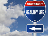Healthy life road sign — Stock Photo
