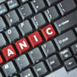 Panic on keyboard — Stock Photo