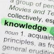 Green marker on knowledge word  — Stock Photo