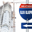 Stock Photo: Bliss blueprint road sign