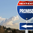 Stock Photo: Promise road sign