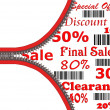 Store sale poster with zipper symbol — Stock Photo