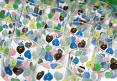 Colorful glass of water on sale — Stock Photo