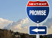 Promise road sign — Stock Photo