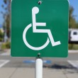 Disable parking sign — Stock Photo