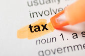 Tax on dicitionary — Stock Photo