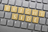 Bright side on keyboard — Stock Photo