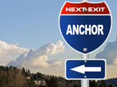 Anchor road sign — Stock Photo