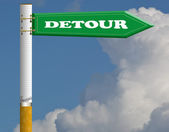 Detour road sign — Stock Photo