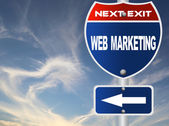 Web marketing road sign — Stock Photo