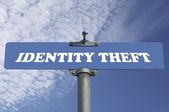 Identity theft road sign — Stock Photo