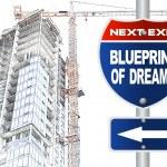 Blueprint of dreams road sign — Stock Photo #30847801