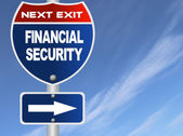 Financial security road sign — Stock Photo