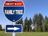 Family tree road sign — Stock Photo