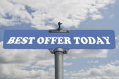 Best offer today road sign — Stock Photo