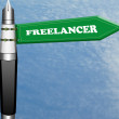 Freelanceer road sign  — Stock Photo