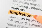 Zvýraznit slovo inspirace — Stock fotografie