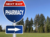 Pharmacy road sign — Stock Photo