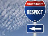 Respect road sign — Stock Photo