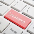 Commerce key on keyboard — Stock Photo
