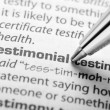 Stock Photo: Testimonial - Dictionary Series