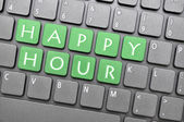 Touche clavier vert happy hour — Photo