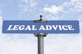 Legal advice road sign — Stock Photo