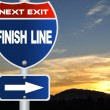Stock Photo: Finish line road sign