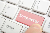 Pressing inspector key on keyboard — Stock Photo