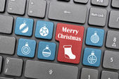 Merry Christmas on keyboard — Stock Photo