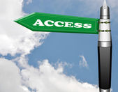 Access road sign — Stock Photo