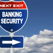 Stock Photo: Banking security road sign